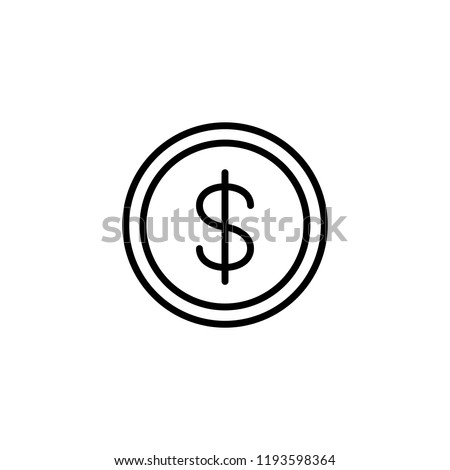 coin money dollar sign line black icon