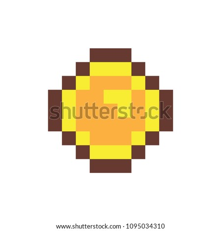 coin of pixel form object