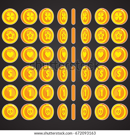 coin rotate set for animation