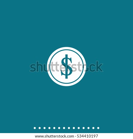 Coin with dollar sign.