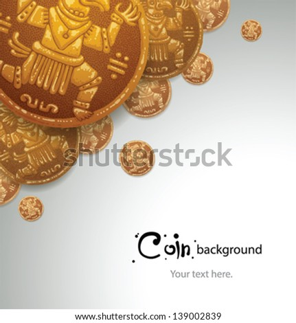 Coins Background 01, vector