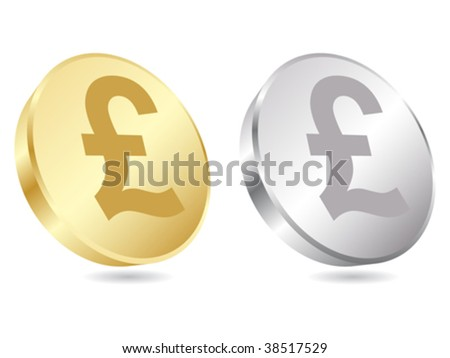 coins of lira vector illustration