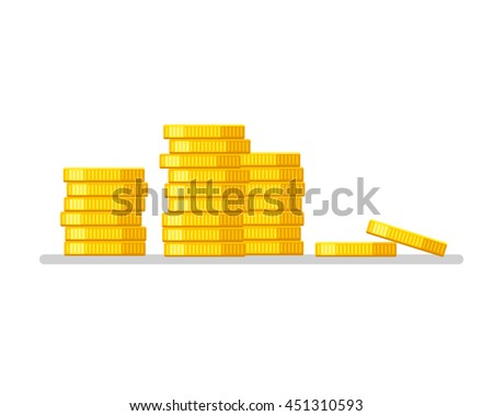coins stack gold money icon
