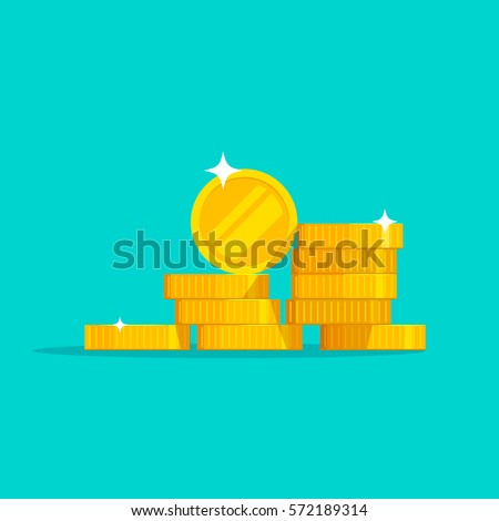 coins stack vector illustration