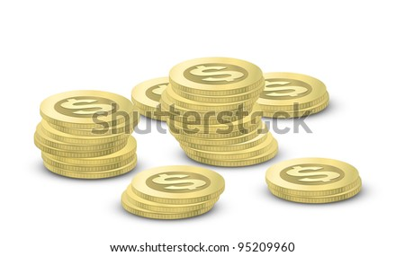 Coins. Vector illustration of money