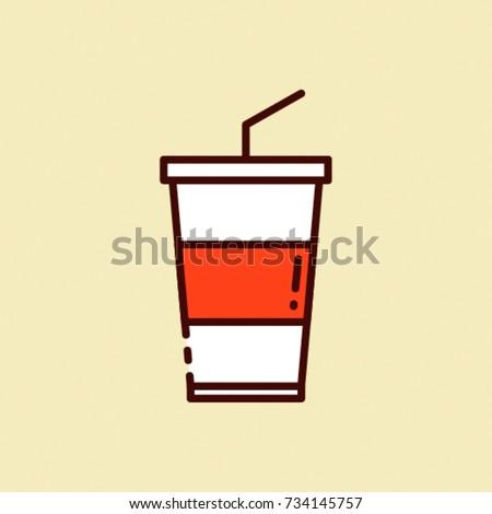 coke   flat vector design