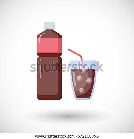 cola vector flat icon  flat