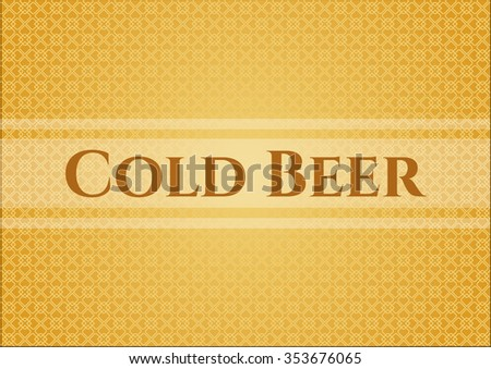 Cold Beer banner or card