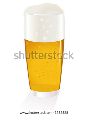 cold beer glass