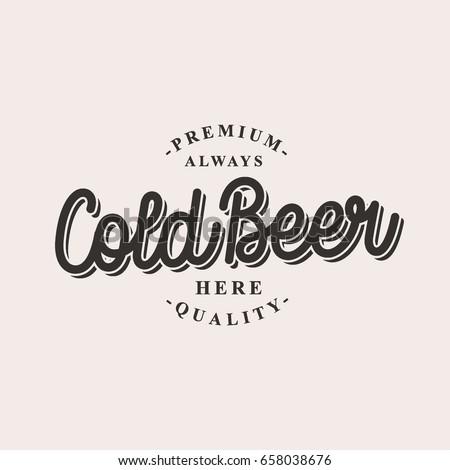 cold beer logo vector