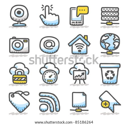 cold network ,communication,business icon set