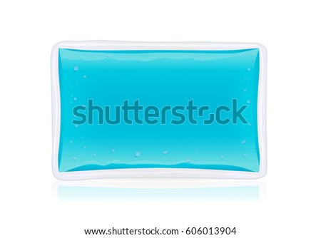 Cold pack gel isolated on white background. Illustration about first aid equipment.