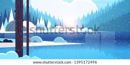 cold winter morning mountain