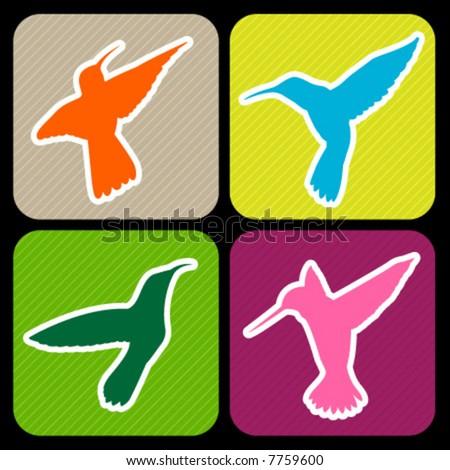 colibri silhouettes