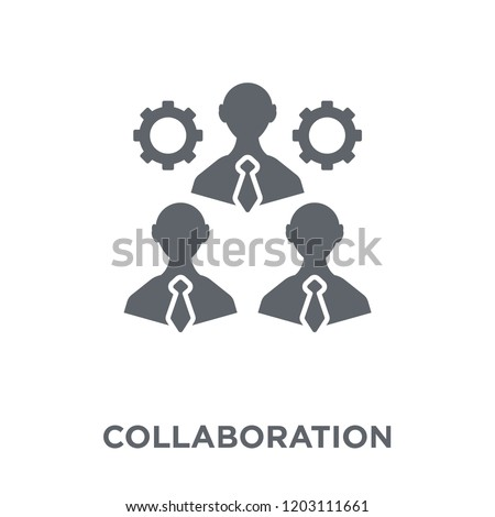 Collaboration icon. Collaboration design concept from  collection. Simple element vector illustration on white background.