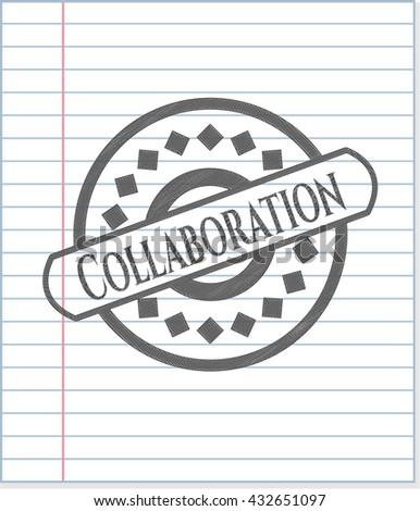 Collaboration pencil emblem