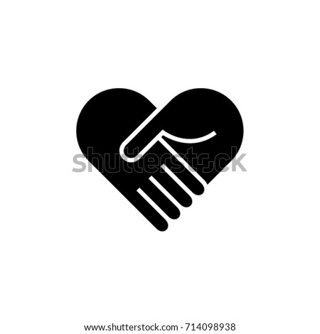 Collaboration Teamwork Care Heart Hands Icon Logo