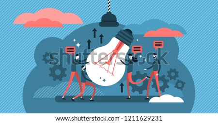 Collaboration vector illustration. Process of people working together to achieve or complete common goal or task. Cooperation power to success team or company target.