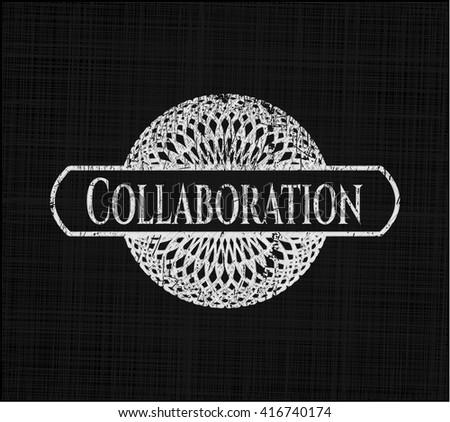 Collaboration written on a blackboard