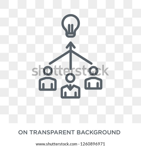 collaborative idea icon. Trendy flat vector collaborative idea icon on transparent background from general  collection. High quality filled collaborative idea symbol use for web and mobile