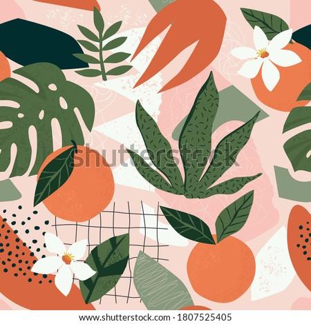 collage contemporary orange