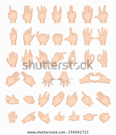 Collage of  hands , eps10 vector format