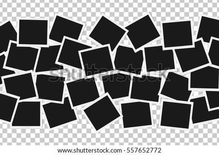 Collage of realistic frames isolated. Template design. Vector illustration