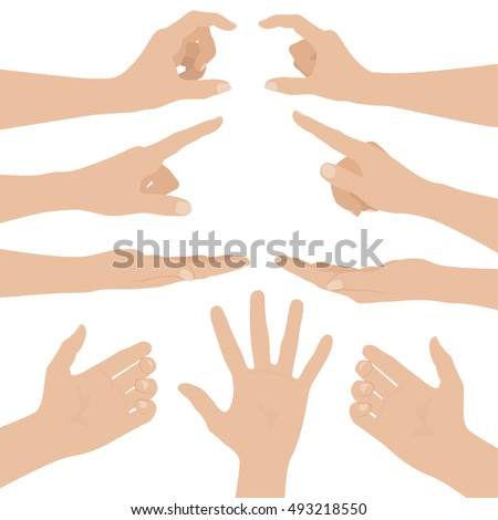collage of woman hands on white