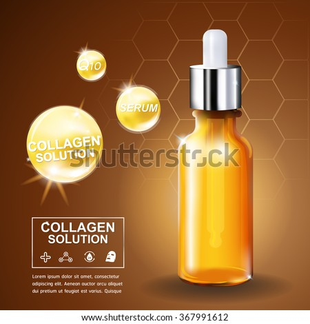 Collagen and Serum Skin Care Product Background Concept Cosmetic for Skin.