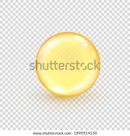 collagen golden bubble isolated