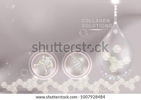 collagen serum drop with
