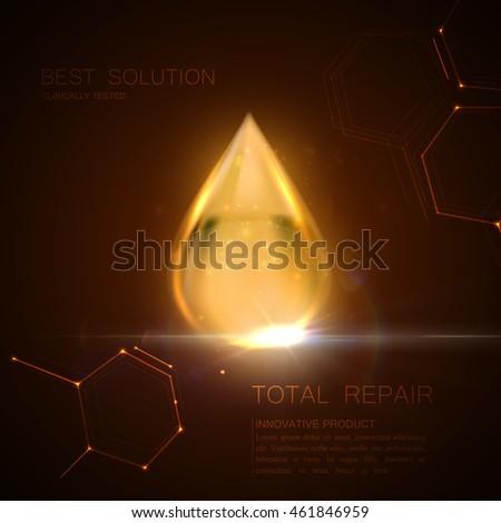 collagen serum or oil essence