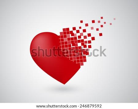 collapsing digital heart