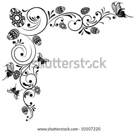 Collect flower background, element for design, vector illustration