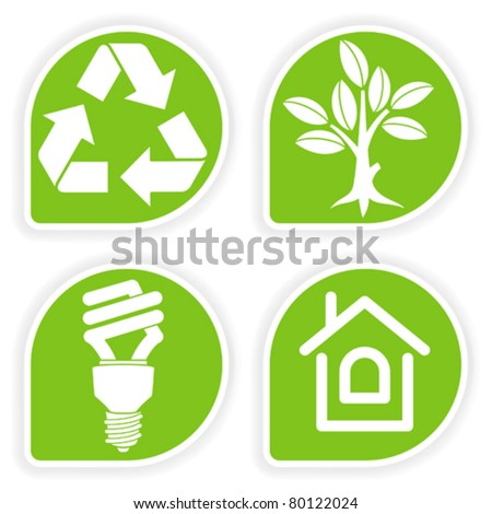 Collect sticker with environment icon tree leaf light Collect and save