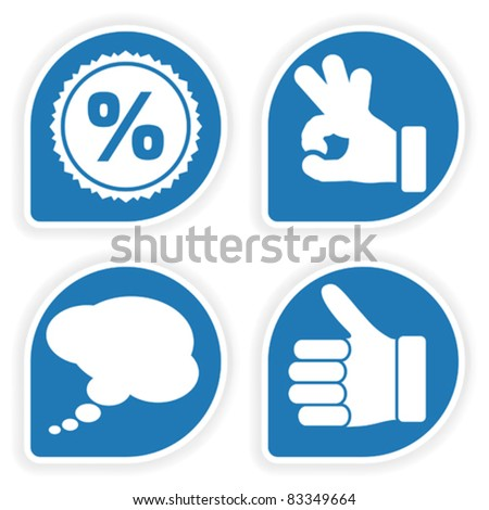 Collect sticker with hand speech bubble and stamp icon Collect and save