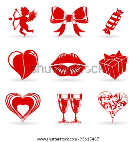 collect valentines day icons