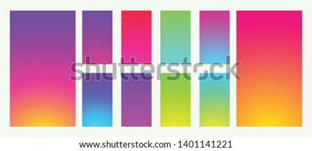Collection abstract colorful backgrounds. Social media gradient background. Mobile backgrounds mockup. Vector illustration. EPS 10