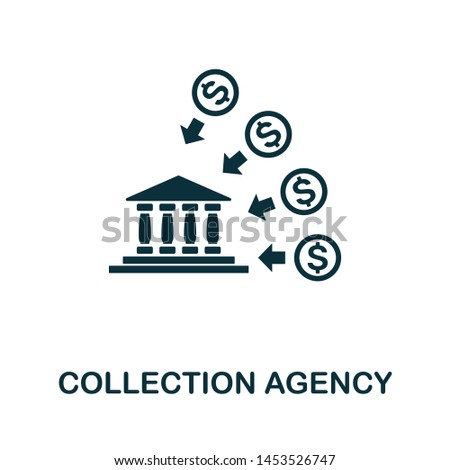 Collection Agency vector icon illustration. Creative sign from investment icons collection. Filled flat Collection Agency icon for computer and mobile. Symbol, logo vector graphics.