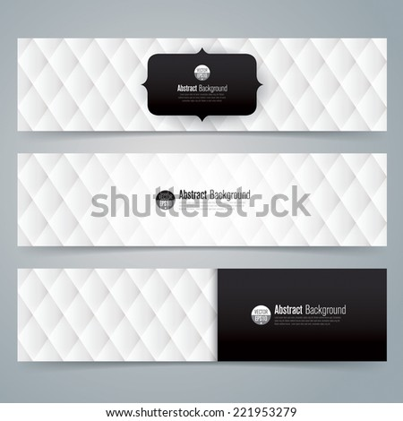 collection banner design  black