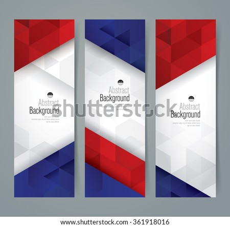 Collection banner design, France flag colors background, vector illustration.