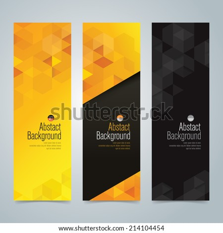 stock-vector-collection-banner-design-yellow-and-black-background-vector-illustration