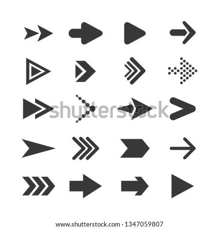 Collection black arrows icon #1347059807