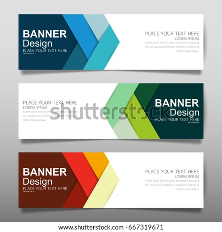 stock-vector-collection-blue-green-and-red-horizontal-business-banner-set-vector-templates-clean-modern