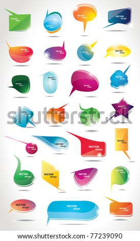 Collection bubbles for speech
