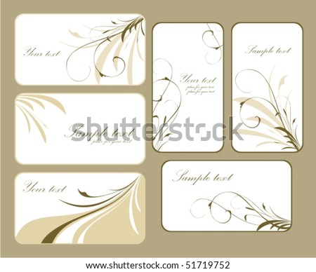 Collection business cards - stock vector