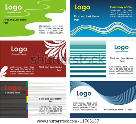 Collection business cards templates 2