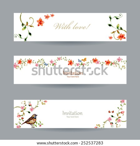 collection cards with foliate