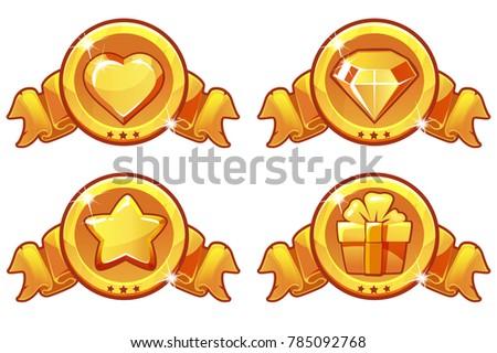 collection cartoon gold icon