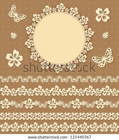 Collection design elements for scrapbook. Vector illustration.